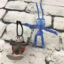 Disney Pixar A Bugs Life Figures Bendy Flick And Francis Lot Of 2 - $7.91