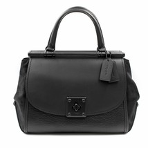Coach Mixed Leather Drifter Carryall Leather Black Womens Bag 38389 - $549.00