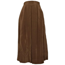 Vintage Silk Skirt Midi High Waist Pleats Pleated 80s 1980s Size Small - $66.65