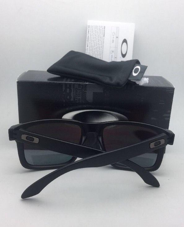 dbd8398bdcf Polarized Oakley Sunglasses HOLBROOK OO9102-51 Matte Black w Ruby Iridium  Lenses