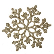 (gold)24pcs Snowflakes Christmas Decor 10cm Plastic Glitter Snow Flake O - $20.00