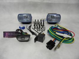 Hella Optilux 1472 Fog Lamps Lights Kit Universal Black Rectangular Blue... - $89.99