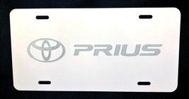 Toyota Prius Car Tag Diamond Etched on White Aluminum License Plate - $22.99