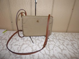 $88.00 Lauren Ralph Lauren Nylon Medium Tara Crossbody Bag, Khaki - $29.35