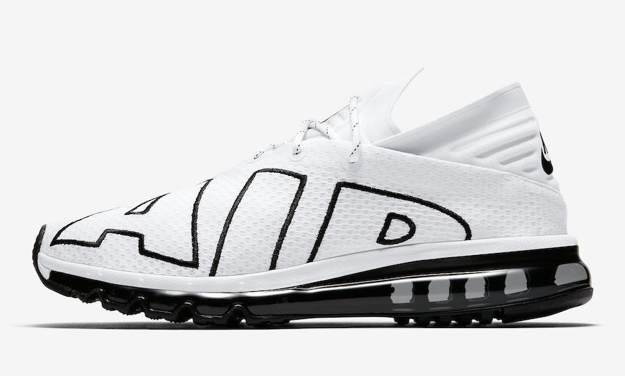 cheap for discount 168cb a1090 ... Nike Air Max Flair White Black Running Sneakers Size 8.5 UK 43 EU  Trainers New ...