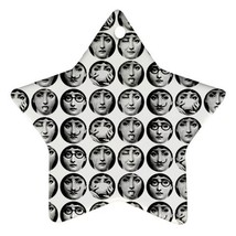 Memorabilia Star Ornament - Fornasetti Face Star Procelain Ornaments Chr... - $3.49