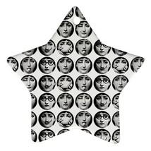 Memorabilia Star Ornament - Fornasetti Face Star Procelain Ornaments Chr... - $3.49