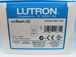 NEW LUTRON QSWS2-3BRLI-WH see TOUCH QS NIB 24V 30mA - $110.87