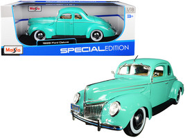 1939 Ford Deluxe Light Green 1/18 Diecast Model Car by Maisto - $57.39