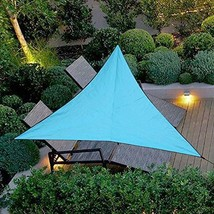 9.8X9.8X9.8 Foot Triangle Waterproof Sun Shade Sail Perfect for Outdoor Patio Ga