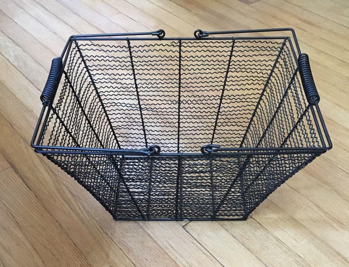 Primitive Black Wire Egg Gathering Basket and 50 similar items