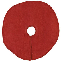 "SALE /Country House new burlap red 24"" round tree skirt / nice - $15.98"