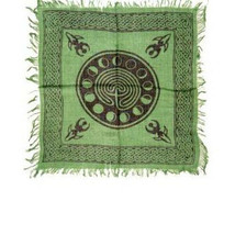 Altar Cloth 18x18 inch: Celtic Earth with Moon Phases, Pagan, Witch, Goth - $10.40