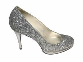 Stuart Weitzman Women Silver Glitter Semi Platform Round Toe Pumps - Siz... - $69.29