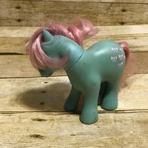 G1 My Little Pony Bowtie Earth Ponies Vintage 1983 Hasbro Pink Blue Ribb... - $7.66