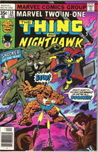 Marvel Two-In-One Comic Book #34 The Thing and Nighthawk, Marvel 1977 FINE- - $2.75
