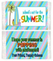 Summer Surf End of School Last Day Party Popcorn Wrappers Party Favors C... - $0.99