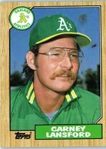 1987 Topps MLB Baseball Trading  Card of: CARNEY LANSFORD #678 - $1.90