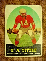 1958 Topps Football Card Y.A. Tittle-#86-VG - $14.50