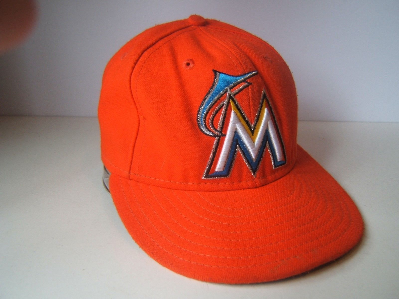 6f023d0aba512 Florida Marlins Hat Orange Fitted 7 55.8cm and 50 similar items. 57