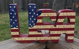 USA Patriotic Block Sign  - $9.95