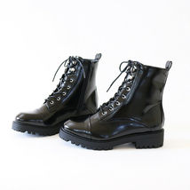 gigi-07A lace up grunge combat ankle boots booties - $31.99