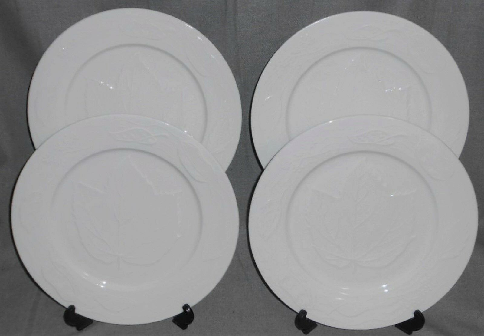 Primary image for Set (4) American Atelier AUTUMN LEAF PATTERN Dinner Plates NICE!