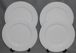 Set (4) American Atelier AUTUMN LEAF PATTERN Dinner Plates NICE! - $55.43