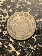1928 Guatemala 10 Centavos Lot#Q522 Silver! Low Mintage! - $7.70