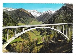 Austria Italy Brenner Autobahn Highway Arch Bridge Tyrol Alps 4X6 Postcard - $5.70