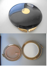 GUCCI TROUSSE make up powder box with mirror Art Deco Original 1960s - $59.00