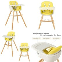3 in 1 Convertible Wooden High Chair with Cushion - $130.67+