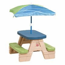 Four Sit and Play Kids Picnic Table With Umbrella Snaps together! No to... - $55.88