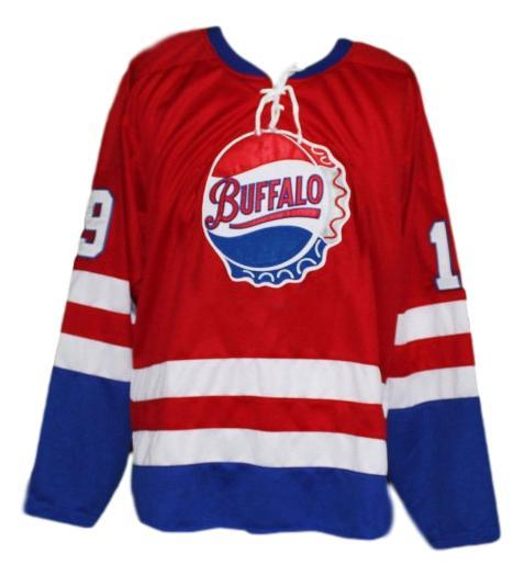 Custom Name # Buffalo Bisons Retro Hockey Jersey New Red Any Size