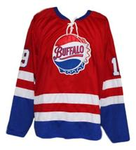 Any Name Number Buffalo Bisons Retro Hockey Jersey Red Any Size image 1
