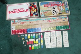 Vintage 1985 Advance To Boardwalk Board Game By Parker Brothers Ages 8+ Complete - $10.00
