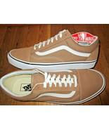 Vans Mens Old Skool Tigers Eye True White Canvas Suede Skate Shoes Size ... - $59.39