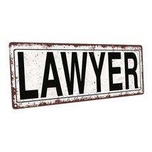 Lawyer Metal Sign; Wall Decor for Home and Office - $19.79+