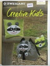 Zweigart Booklet 284 Creative Kids Lion Fox Raccoon 11 Pages + Pull Out ... - $8.08