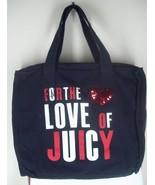 Juicy Couture Black Love of Juicy Sequin Zip Top Tote Shoulder Bag NEW M... - $41.99