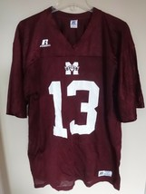 Vintage Russell Mississippi St Bulldogs # 13 & 2 Football Jersey NCAA Me... - $24.55