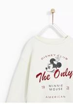New Zara Minnie Mouse Plush Sweater Dress Long Sleeve Kid Girl Sz 11-12 - $55.78