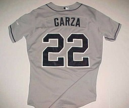 Matt Garza #22 Tampa Bay Devil Rays MLB 2008 World Series Gray Blue Jers... - $178.19