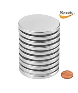 Rare Earth Disc Neodymium Magnets Powerful Permanent for Fridge Pack of 10 - $14.50