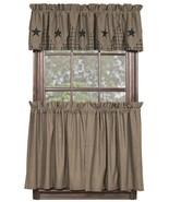 Olivia's Heartland country primitive Vintage Star fabric window TIERS CU... - $34.95+