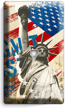 NEW YORK CITY RUSTIC US FLAG STATUE OF LIBERTY PHONE TELEPHONE PLATE COV... - $10.79