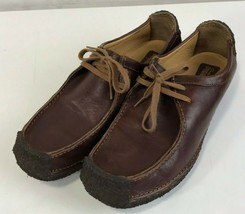 Rare Clarks Originals Natalie Wallabees Full Wrap Sole Brown Leather 9.5 M - $98.99