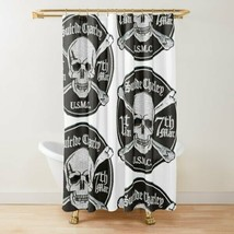 1st Bn 7th Marines Suicide Charlie shower Curtain - $98.99