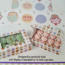 Vintage 2007 Wilton 415959 Cupcake Heaven Boxes see thru top set of 2 in... - $12.36