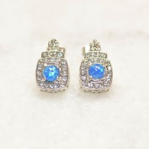 1 pair - Fashion Elegant Blue Opal Ear Studs - Rose Gold, Gold and Silver - €8,33 EUR